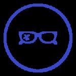 icone lunettes cassées